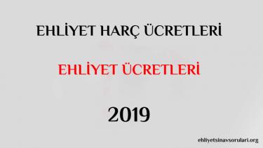 ehliyet harc ücreti 2019