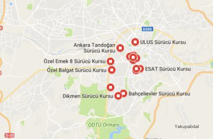 Türkiye Geneli Sürücü Kursu Bilgileri 2017