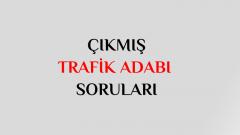 4 Ağustos 2018 Ehliyet Sınavı Trafik Adabı Soruları