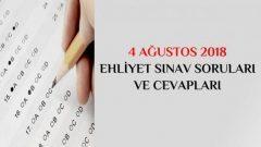 4 Ağustos Ehliyet Sınav Soruları Ne Zaman Açıklanacak?