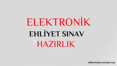 elektronik ehliyet sınav soruları
