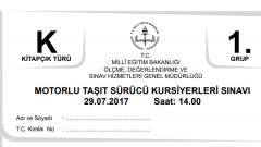 29 Temmuz 2017 Ehliyet Sınav Soruları Çöz